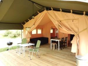 Interieur Safaritent Comfort - Camping La Chauderie
